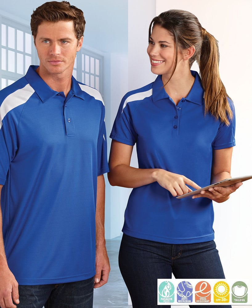 Paragon SM0106 - Ladies' Contrast Insert Mesh Sport Shirt