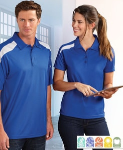 Paragon SM0106 - Ladies Contrast Insert Mesh Sport Shirt