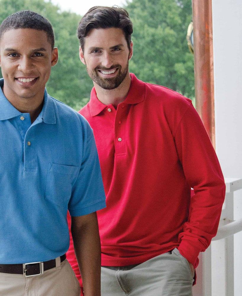 WHISPERING PINES WP7015 - Inner Harbor Adult Mainsail Long Sleeve Pique Sport Shirt