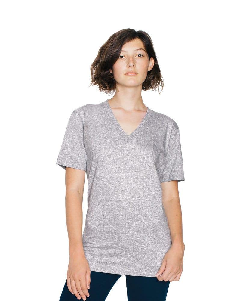 American Apparel AA2456W - Remera de cuello en V de jersey fino unisex