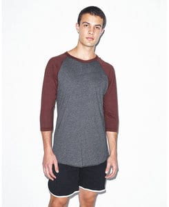 American Apparel AABB453W - Unisex Poly/Cotton 3/4 Sleeve Raglan Tee