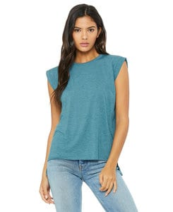BELLA+CANVAS B8804 - Womens Flowy Muscle Tee with Rolled Cuff