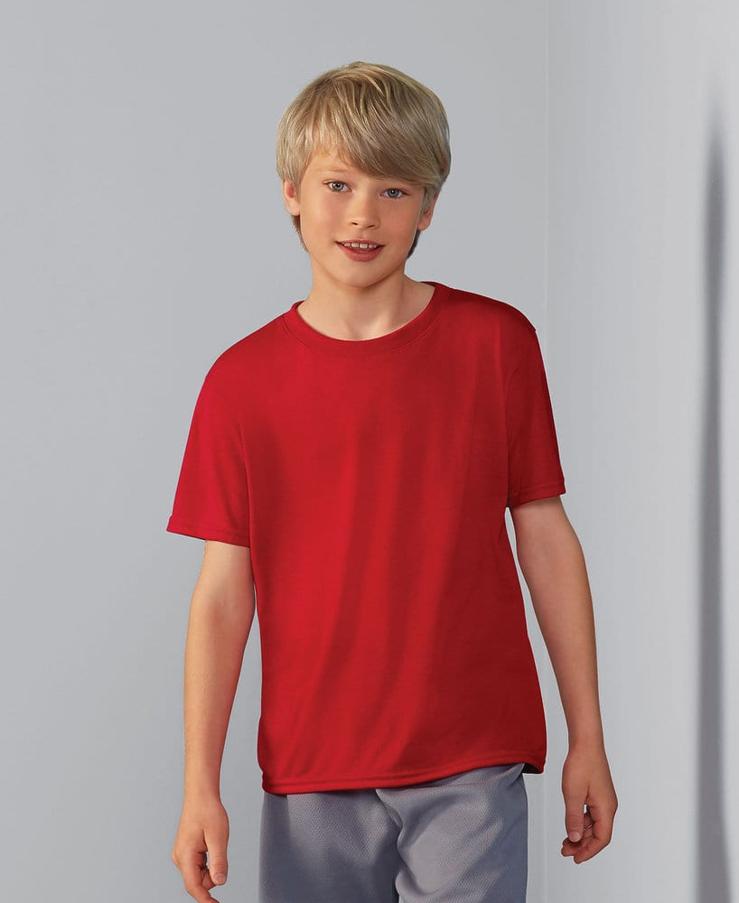 Gildan G46000B - Remera de cuello redondo de alto rendimiento para jóvenes