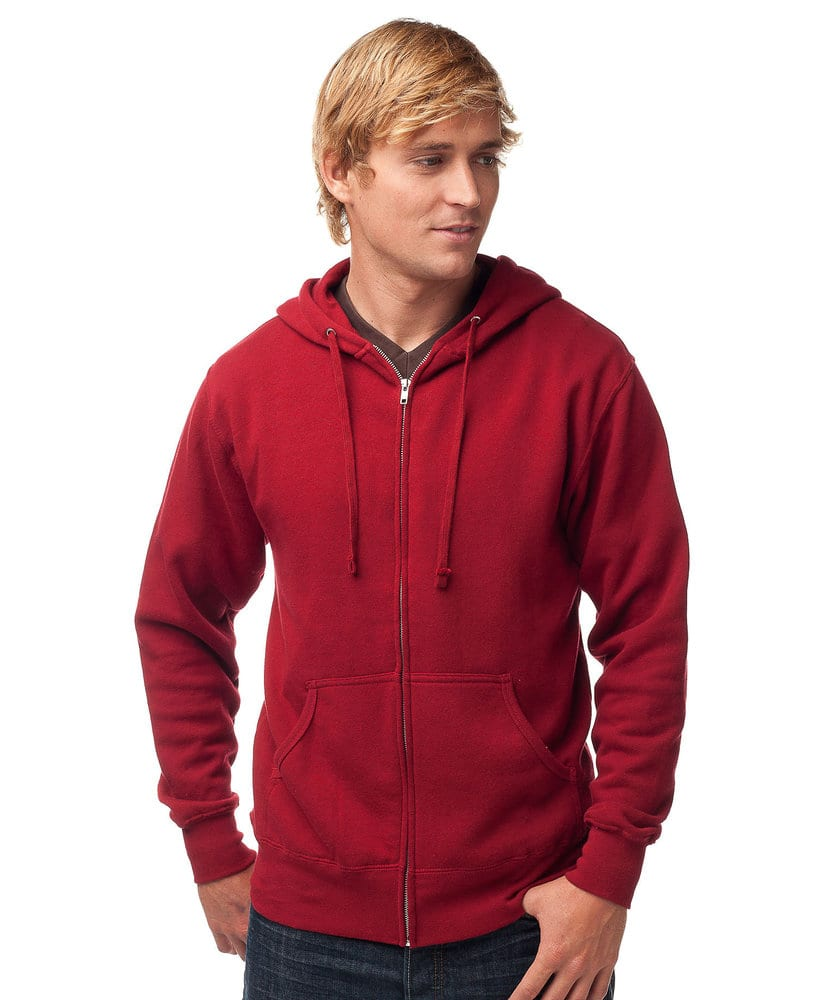 Independent Trading Co. AFX40Z -  Buzo con capucha polar de peso liviano con cierre ajustado para adultos