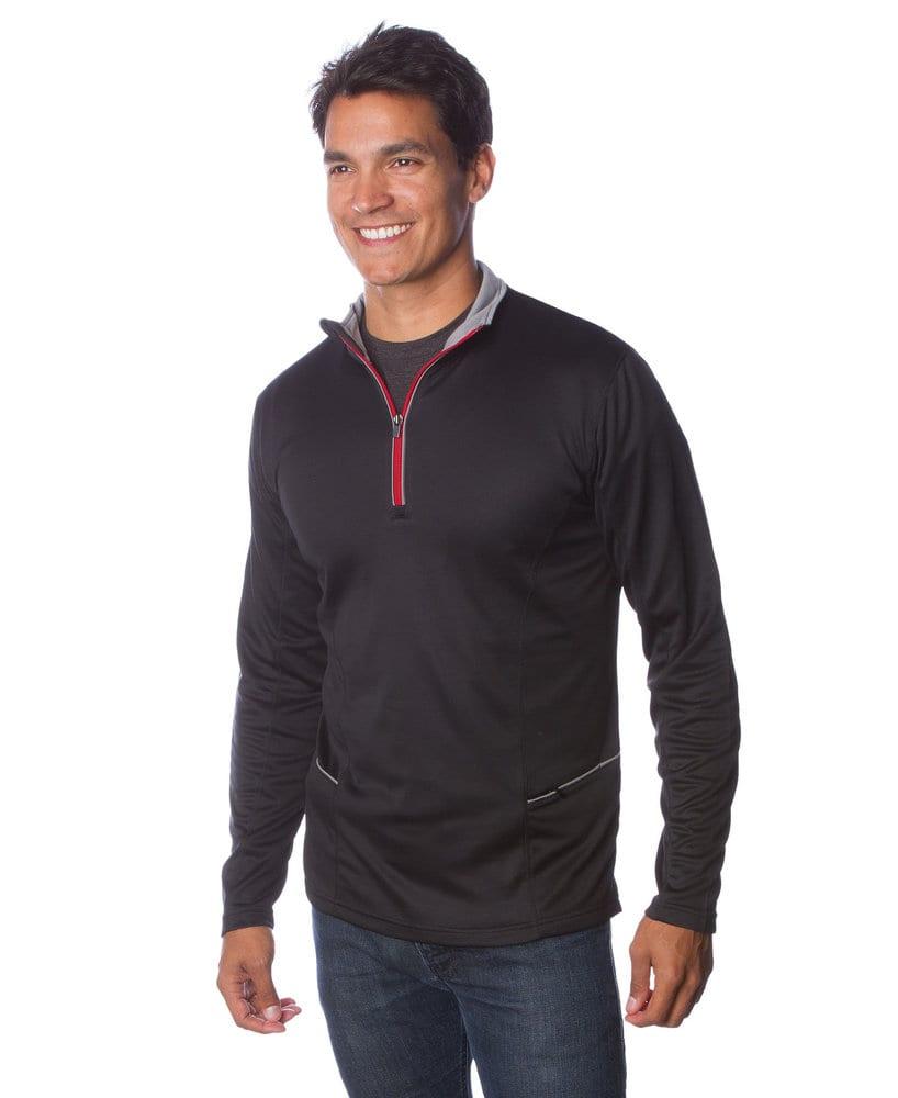 Independent Trading Co. EXP14PQZ - Adult Lightweight Poly-Tech 1/4 Zip Cadet Fleece