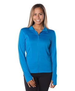 Independent Trading Co. EXP60PAZ - Womens Lightweight Poly-Tech Zip Fleece