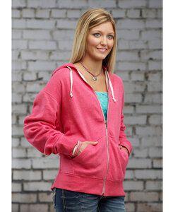 J. America JA8872 - Adult Tri-Blend Full Zip Hooded Fleece