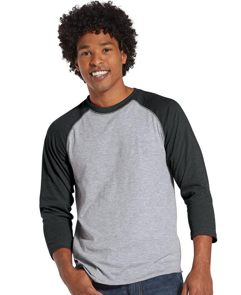LAT LA6930 - Remera de jersey fino de béisbol para hombre