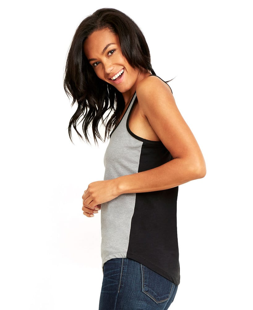 Next Level NL1534 - Musculosa Ideal Color Block para mujer