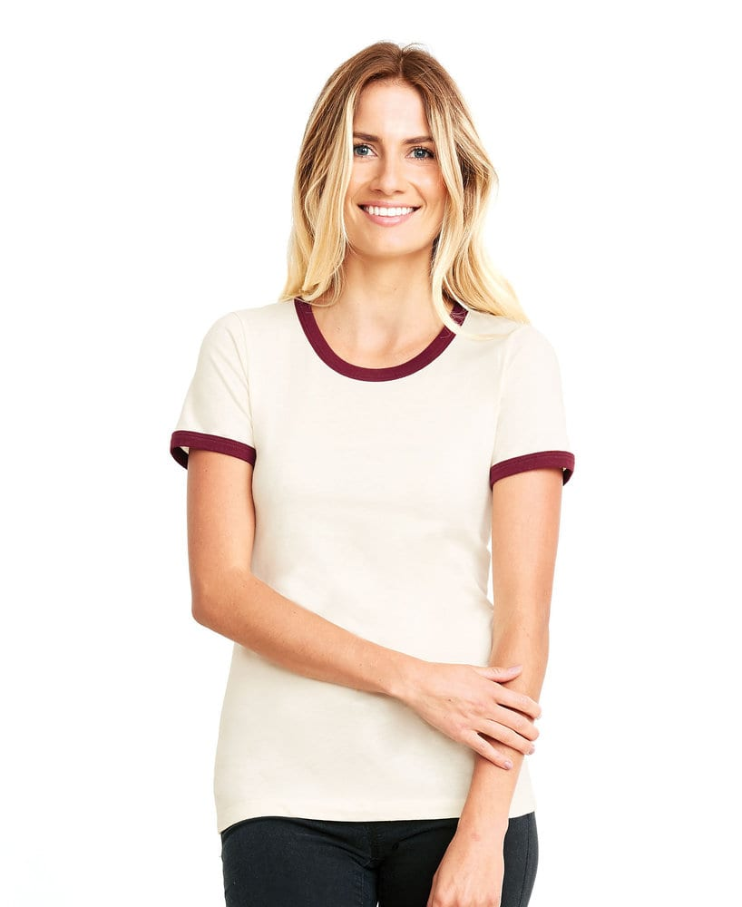 Next Level NL3904 - Women's Cotton Ringer Tee