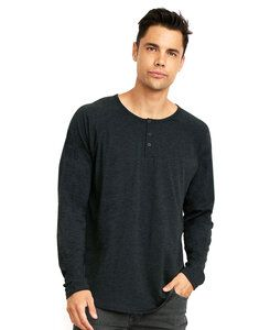 Next Level NL6072 - Remera de Manga Larga Tri-Blend Henley para hombres