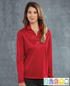Paragon SM0351 - Pullover con cierre 1/4 para mujeres