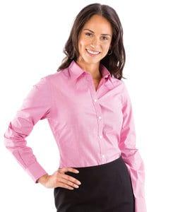 VanHeusen 13V0427 - Ladies Yarn Dyed Mini Check Long Sleeve Shirt
