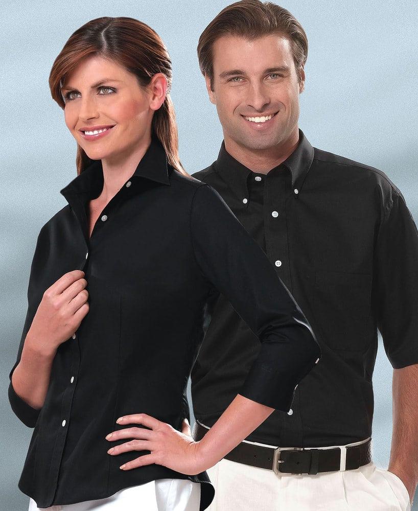 VanHeusen 13V532 - Camisa de vestir de manga corta de sarga para hombre