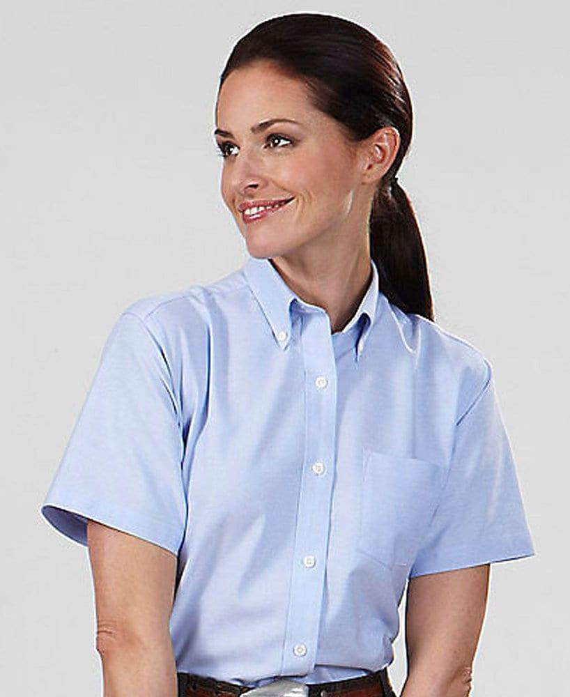 VanHeusen V0003 - Camisa de manga corta Oxford para mujer