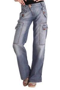 PHARD P17033614408WN KARL - Denim Jeans  Femme