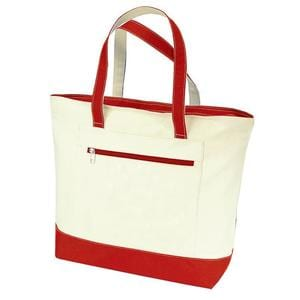 Q-Tees Q1300 - Canvas Zipper Tote Bag