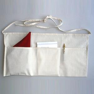 Q-Tees Q2320 - Waist Apron With 3 Compartment Pouch