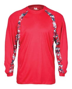 Badger BG4155 - Adult Digital Hook Long Sleeve Tee