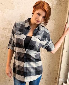 Burnside BN5210 - Ladies Plaid Flannel Shirt