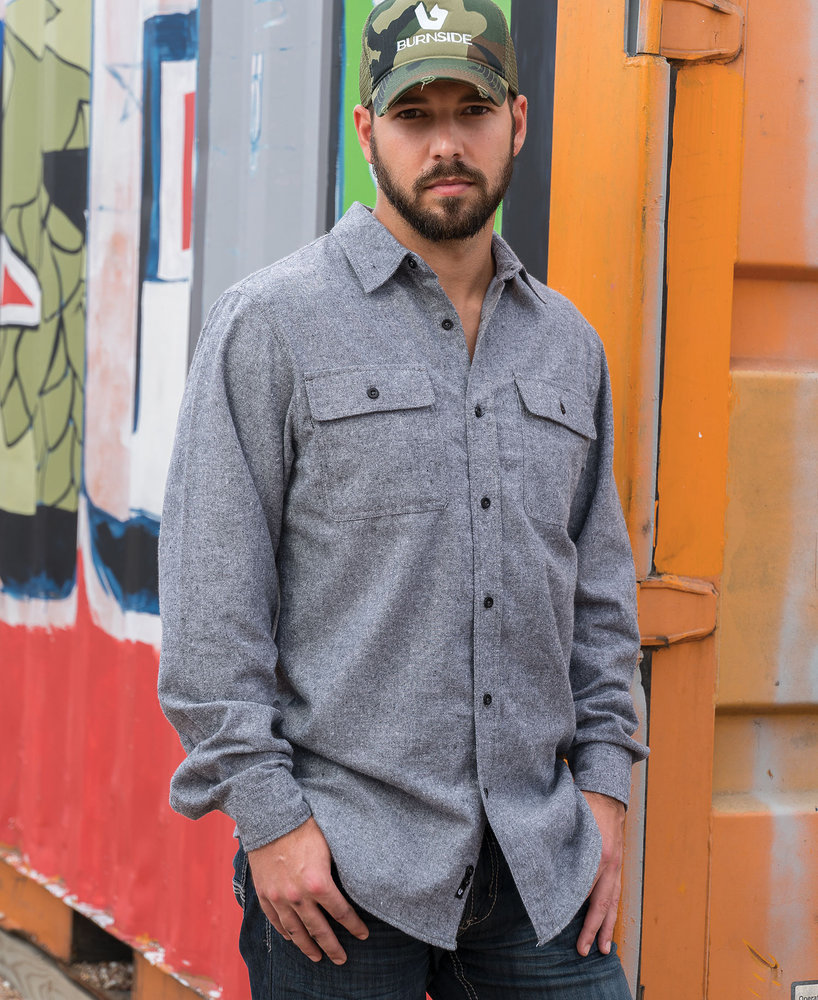 Burnside BN8200 - Adult Solid Woven Flannel Shirt