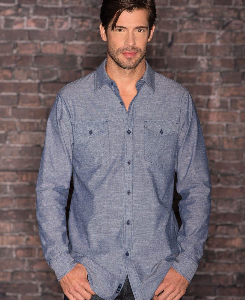 Burnside BN8255 - Adult Long Sleeve Chambray Shirt