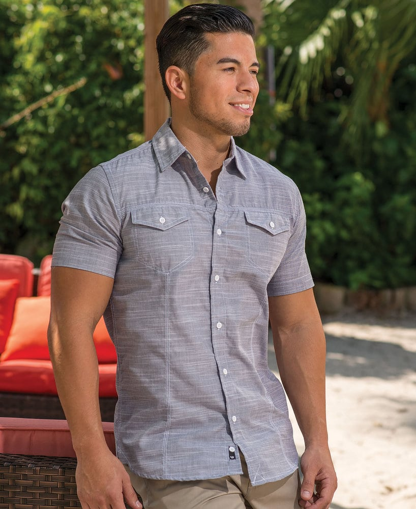 Burnside BN9247 - Adult Texture Woven Shirt