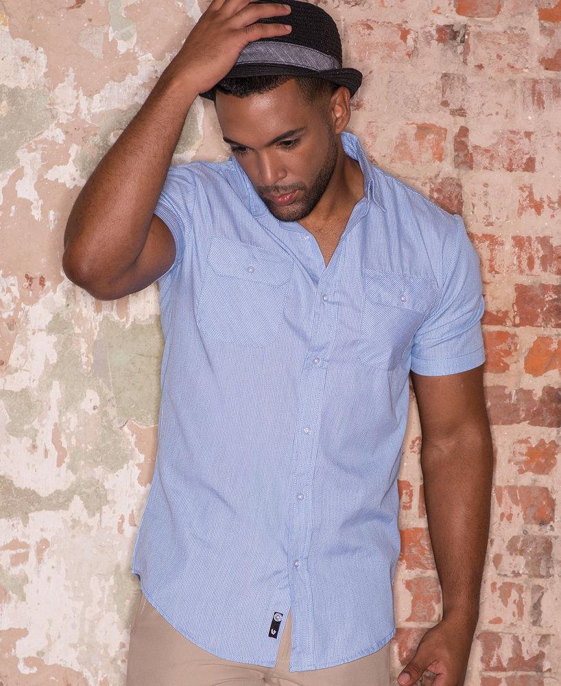 Burnside BN9265 - Adult Dobby Stripe Short Sleeve Shirt