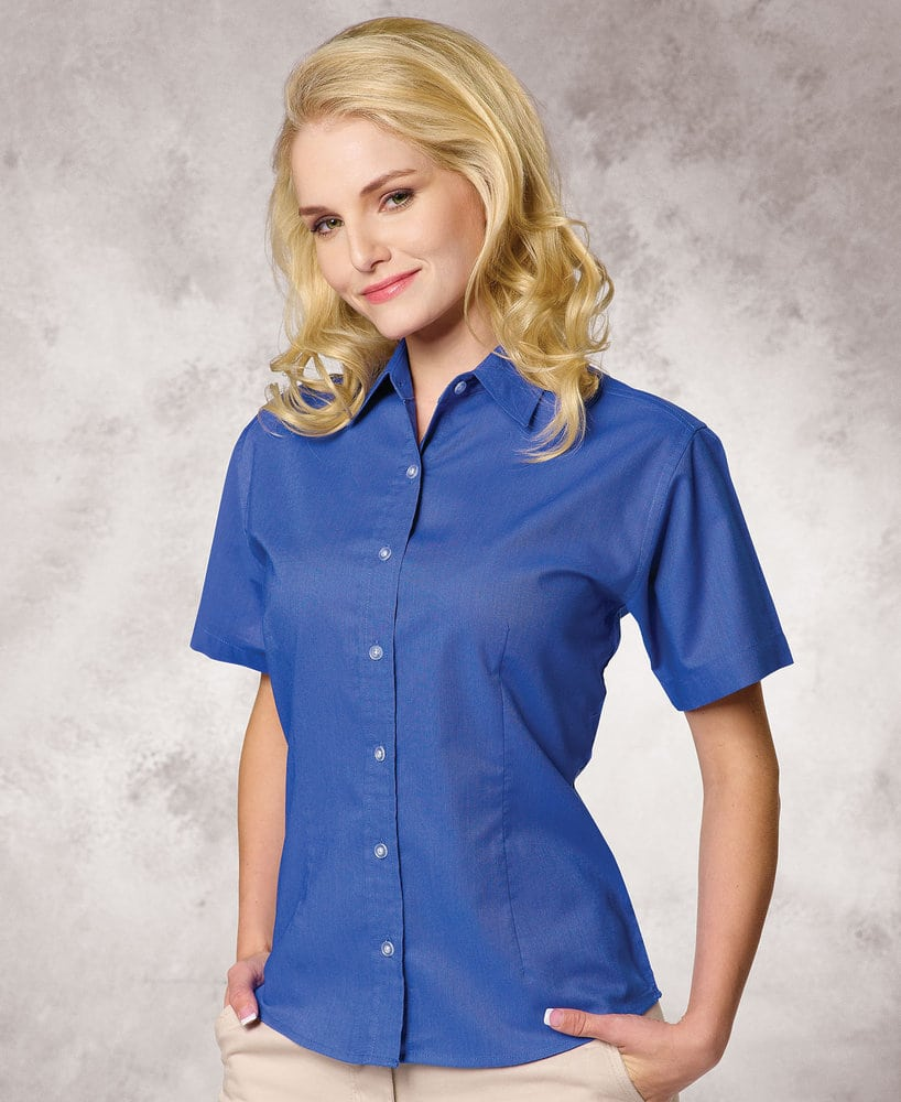 FeatherLite SP5231 - Featherlite Ladies' Performance Teflon Short Sleeve Oxford