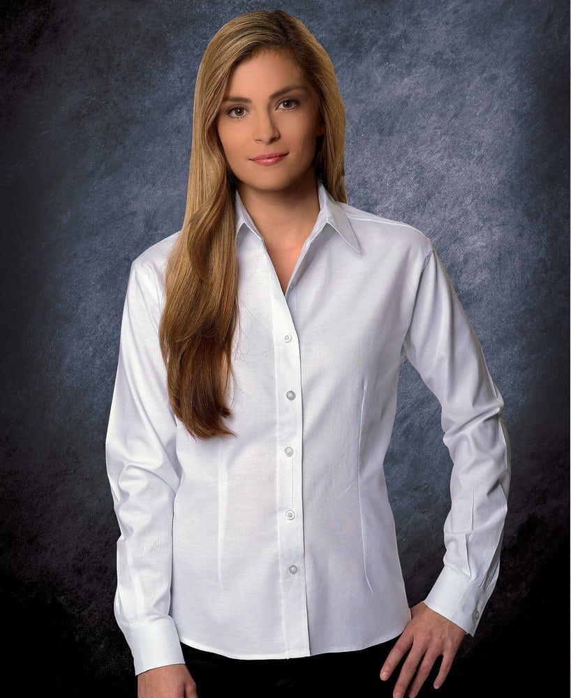 FeatherLite SP5233 - Featherlite Ladies' Performance Teflon Long Sleeve Oxford