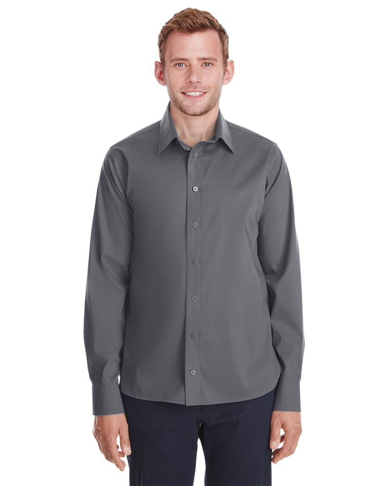 Devon & Jones DG561 - Men's Crown  Collection Stretch Broadcloth Untucked Shirt