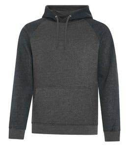 ATC F2044 - vintage two tone hooded sweatshirt