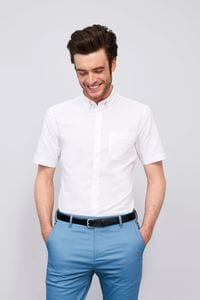 Sols 02921 - Short Sleeve Oxford Men's Shirt Brisbane Fit
