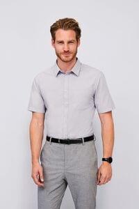 Sols 02923 - Camisa Popelina de Manga Curta para Homem Bristol Fit