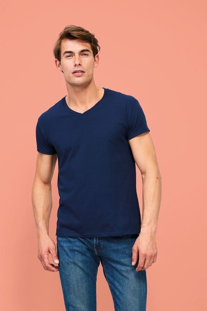 """Sol's 02940 - Tee Shirt Homme Col """"V"""" IMPERIAL"""