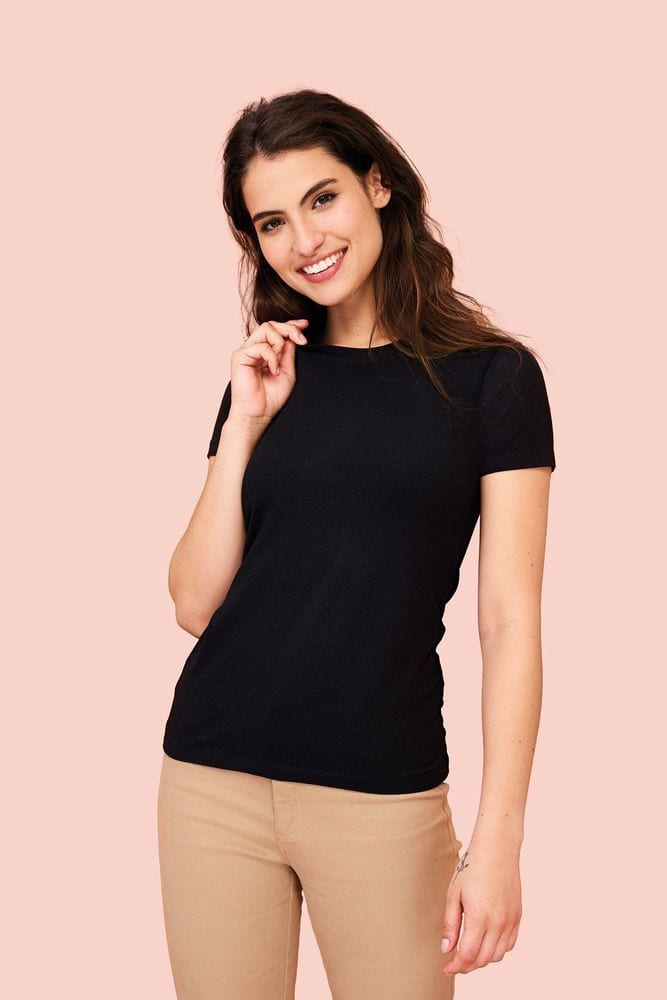Sol's 02946 - TEE-SHIRT COL ROND FEMME Millenium