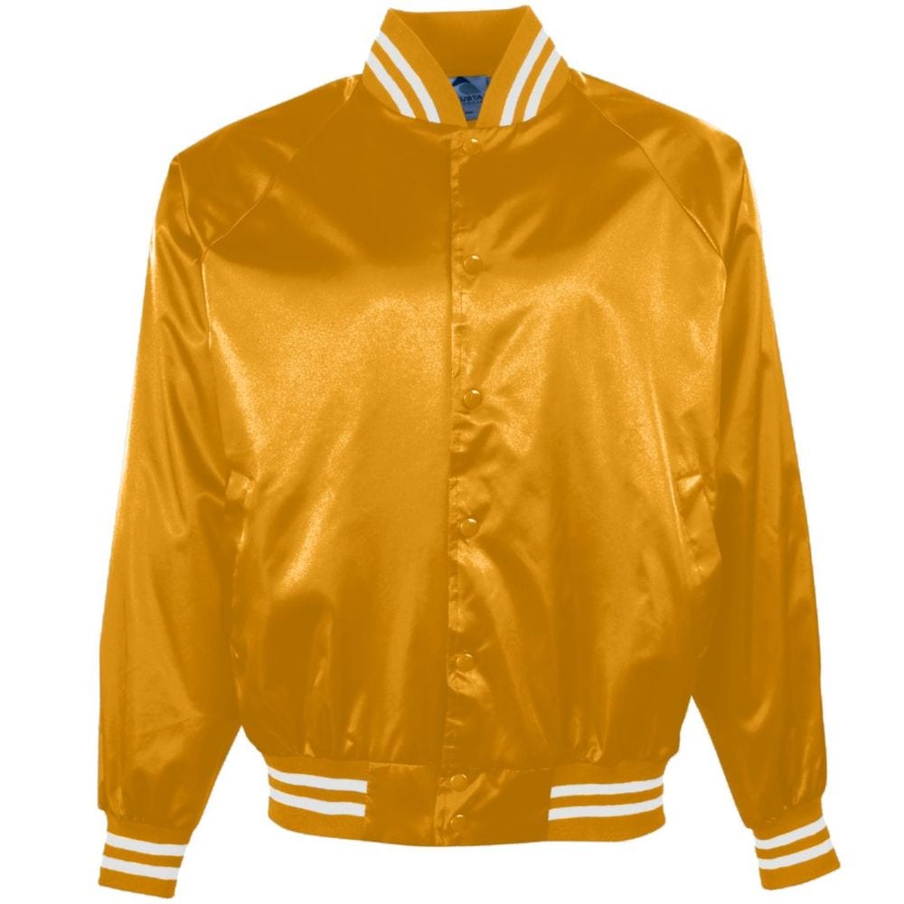 Augusta Sportswear 3610 - Satin Baseball Jacket/Striped Trim