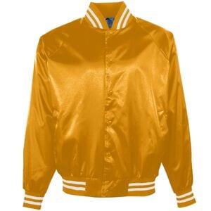 Augusta Sportswear 3610 - Campera de béisbol de satín/Ribete rayado
