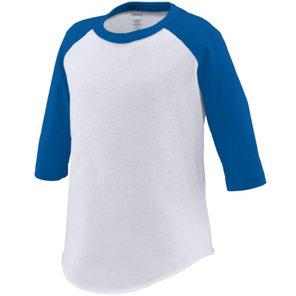 Augusta Sportswear 422 - Remera Jersey de béisbol para niños pequeños