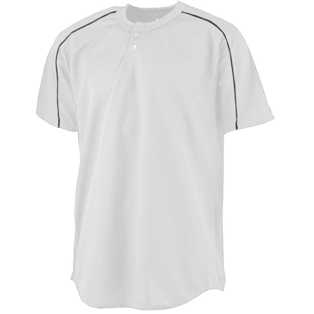 Augusta Sportswear 585 - Wicking Two Button Baseball Jersey