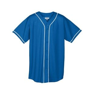 Augusta Sportswear 593 - Wicking Mesh Button Front Jersey With Braid Trim