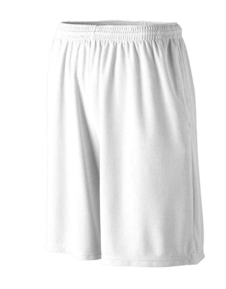 Augusta Sportswear 814 - Youth Longer Length Wicking Short W/ Pockets