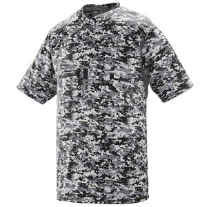 Augusta Sportswear 1555 - Digi Camo Wicking Two Button Jersey