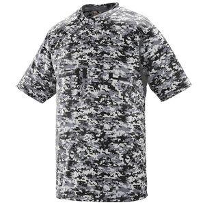 Augusta Sportswear 1556 - Youth Digi Camo Wicking Two Button Jersey