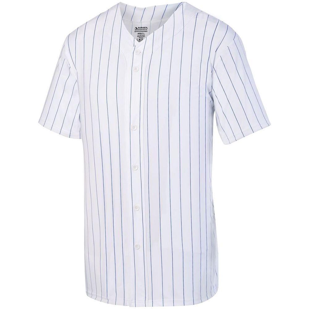 Augusta Sportswear 1685 - Remera de béisbol rayada con botones