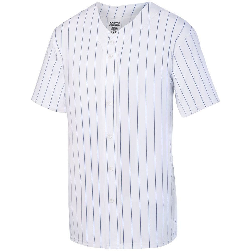 Augusta Sportswear 1686 - Youth Pinstripe Full Button Baseball Jersey