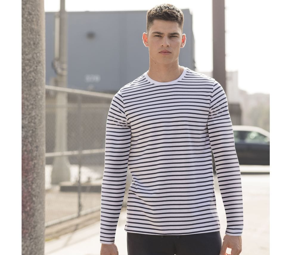 SF Men SF204 - Unisex Langärmige Striped T