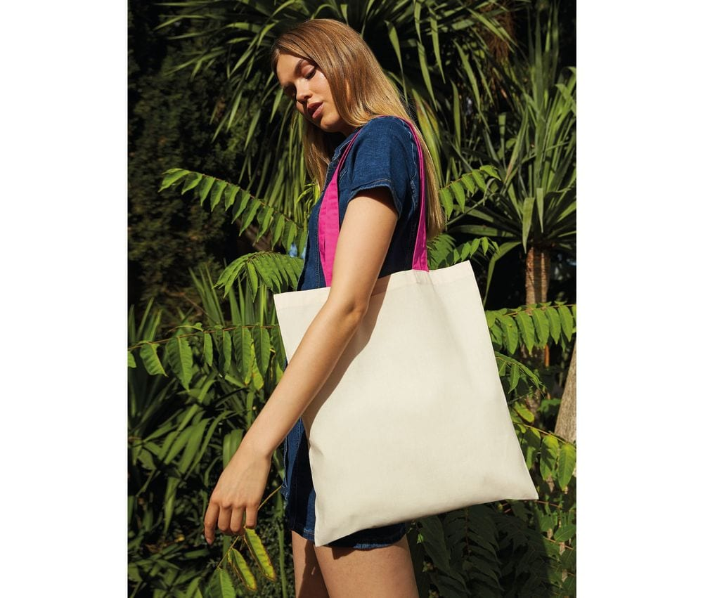 Westford mill W101C - Bag For Life - Contrast Handles