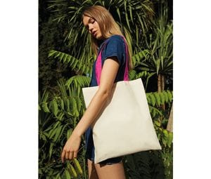 Westford mill W101C - Shopping bag with contrasting handles