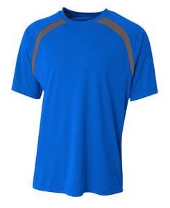 A4 A4NB3001 - Youth Spartan Short Sleeve Color Block Crew